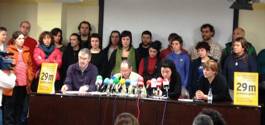 Bizkaia: Llamamiento a la Huelga General del 29 de marzo