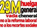 Concentración de CGT en Zaragoza preparatoria de la huelga general