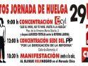 Actos de CGT-CNT en Ávila durante la Huelga General del 29M
