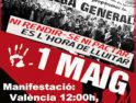 CGT-Valencia hace un llamamiento para tomar las calles el 1º Mayo y el 29-Abril
