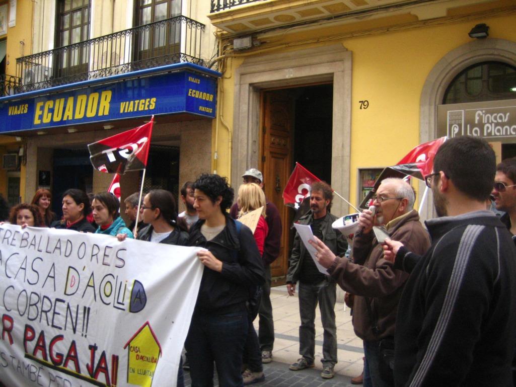 Fotos Concentración Aser en Castellón