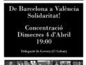 Valencia: Concentración en solidaridad detenidxs en Barcelona el 29m