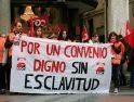 [Fotos] Concentración en Valladolid por un convenio digno en Telemarketing