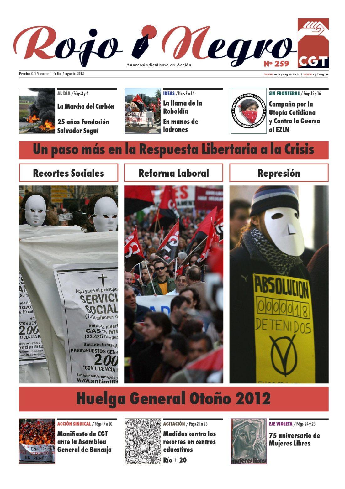 Rojo y Negro nº 259 -julio/agosto 2012