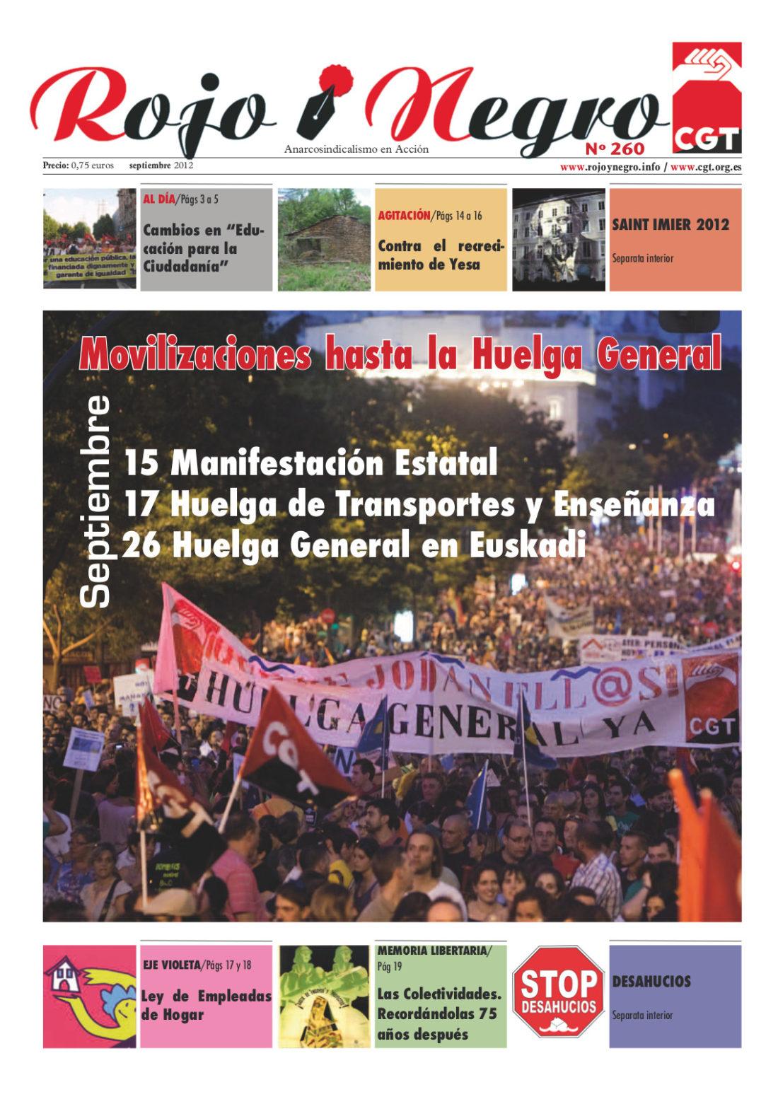 Rojo Y Negro nº 260 Septiembre 2012