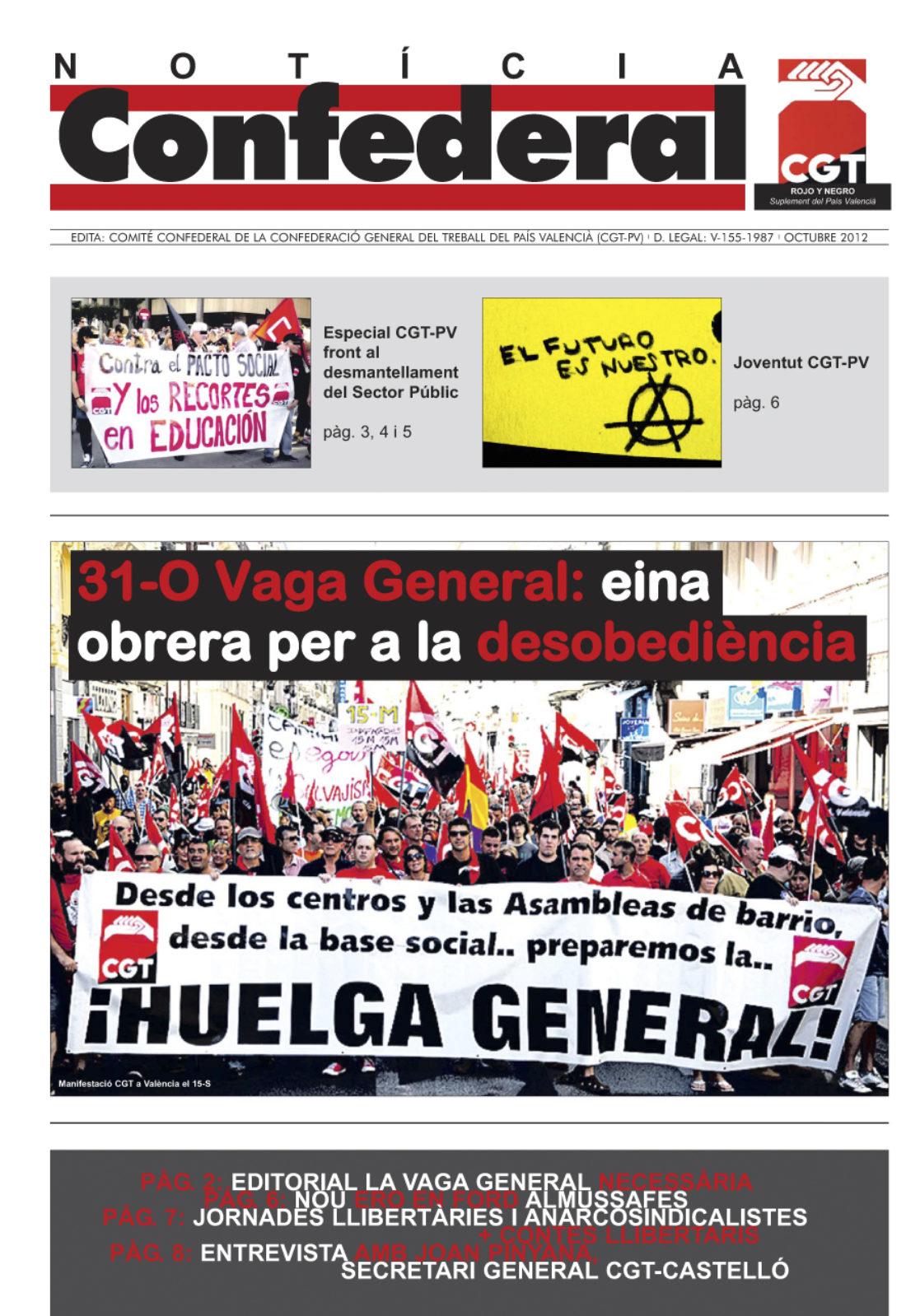 Noticia Confederal Octubre 2012