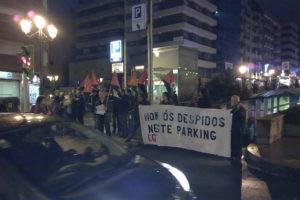 Primera concentración contra los despidos en Gómez-Ulla