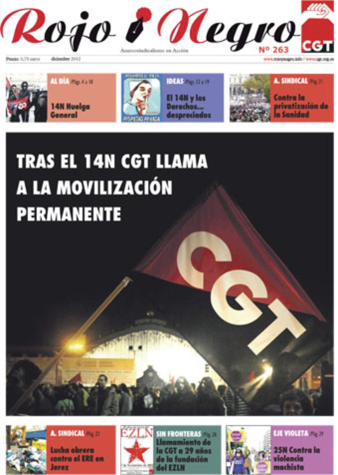 Rojo y Negro nº 263 Diciembre 2012
