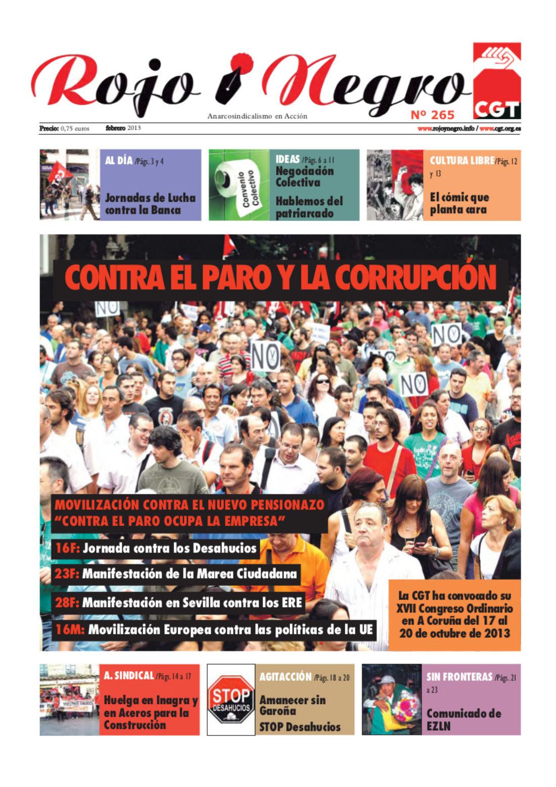 Rojo y Negro nº 265 febrero 2013