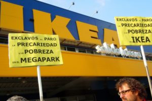 Movilización ante el 8º Aniversario de la apertura de IKEA Barakaldo