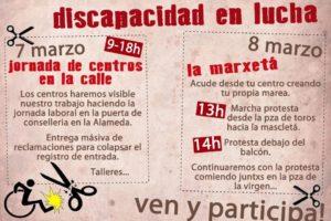 7 y 8 marzo Valencia: Jornadas reivindicativas Discapacidad en lucha