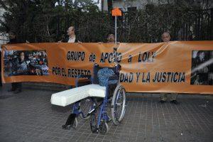 Manifestación en Valencia en solidaridad con Dolores Carrasquilla