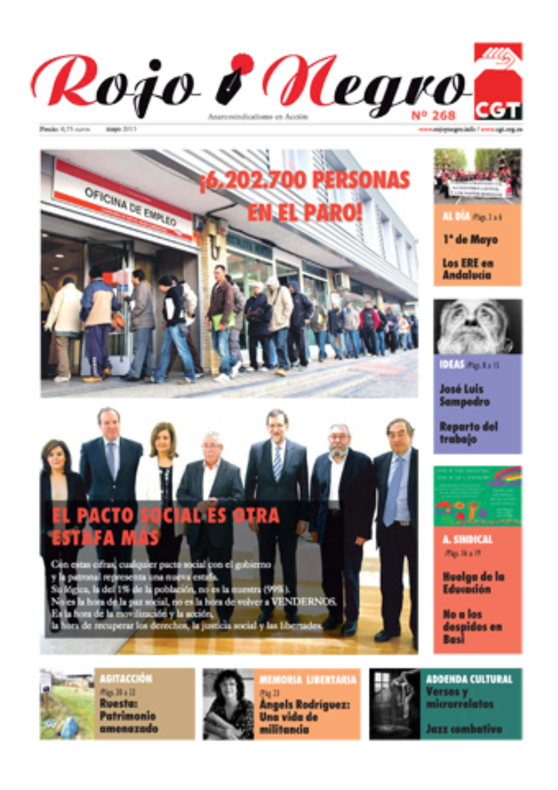 Rojo y Negro 268 Mayo 2013 + Addenda, Suplemento Cultural de RyN