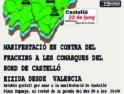 Manifestación en contra del fracking en las Comarcas del Norte de Castellón