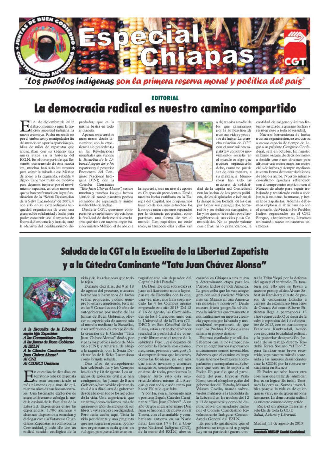 Suplemento Especial sobre Chiapas Rojo y Negro 271 septiembre 2013