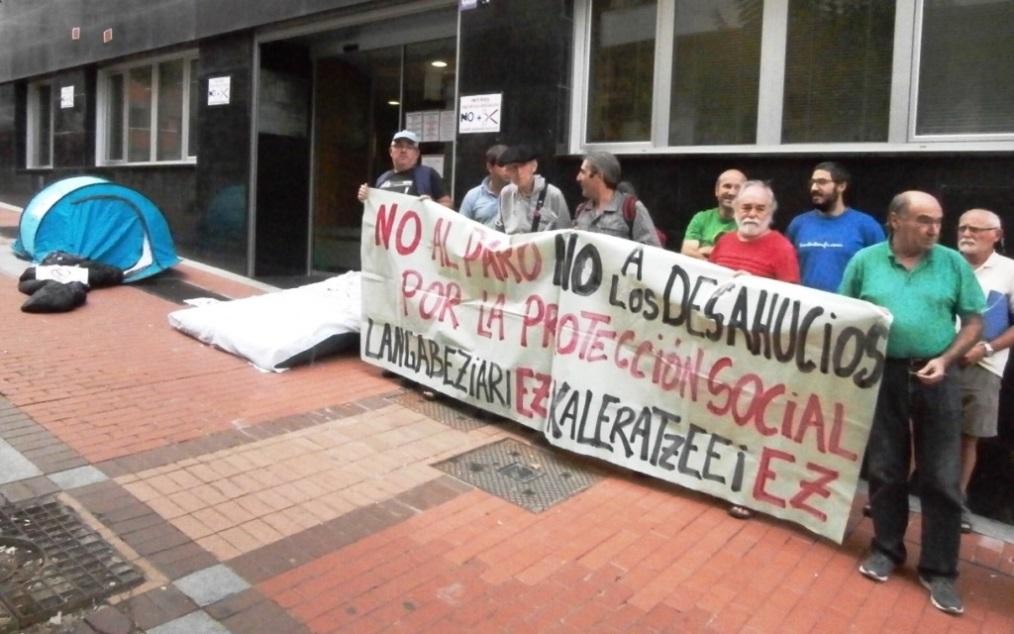 Movilización en Barakaldo contra los recortes y los desahucios