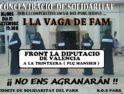 19-s Valencia: Concentración frente a la Diputación en solidaridad con la Cooperativa Social del Parke Alkosa i la huelga de hambre