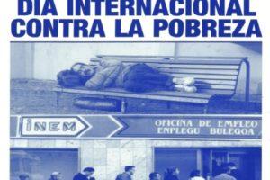 Movilización contra los recortes y por unos presupuestos más solidarios en el «Día Internacional para la Erradicación de la Pobreza»
