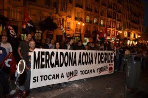 CGT se concentra en Gandia y Valencia contra la política antisindical de Mercadona y por la readmisión de Fran