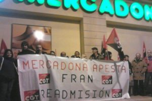 Zaragoza. CGT denuncia la represión sindical en Mercadona