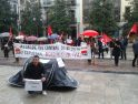 Protesta en Granada por el despido de un trabajador de una subcontrata municipal
