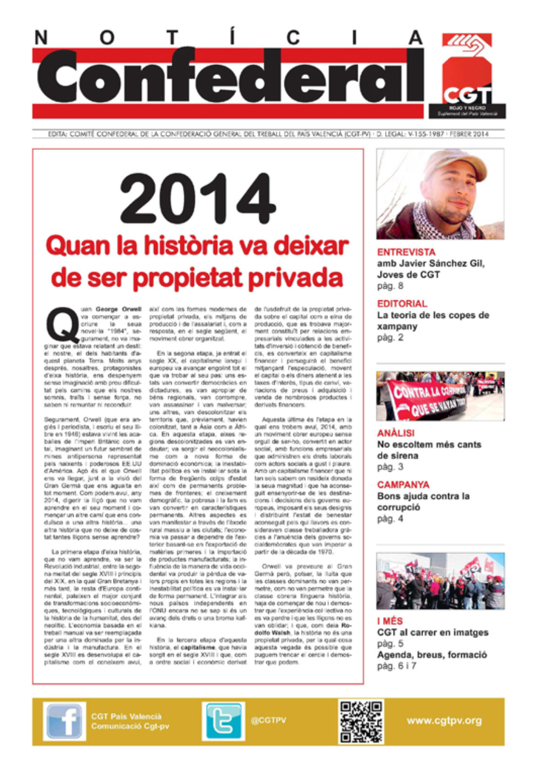 Notícia Confederal – febrero 2014