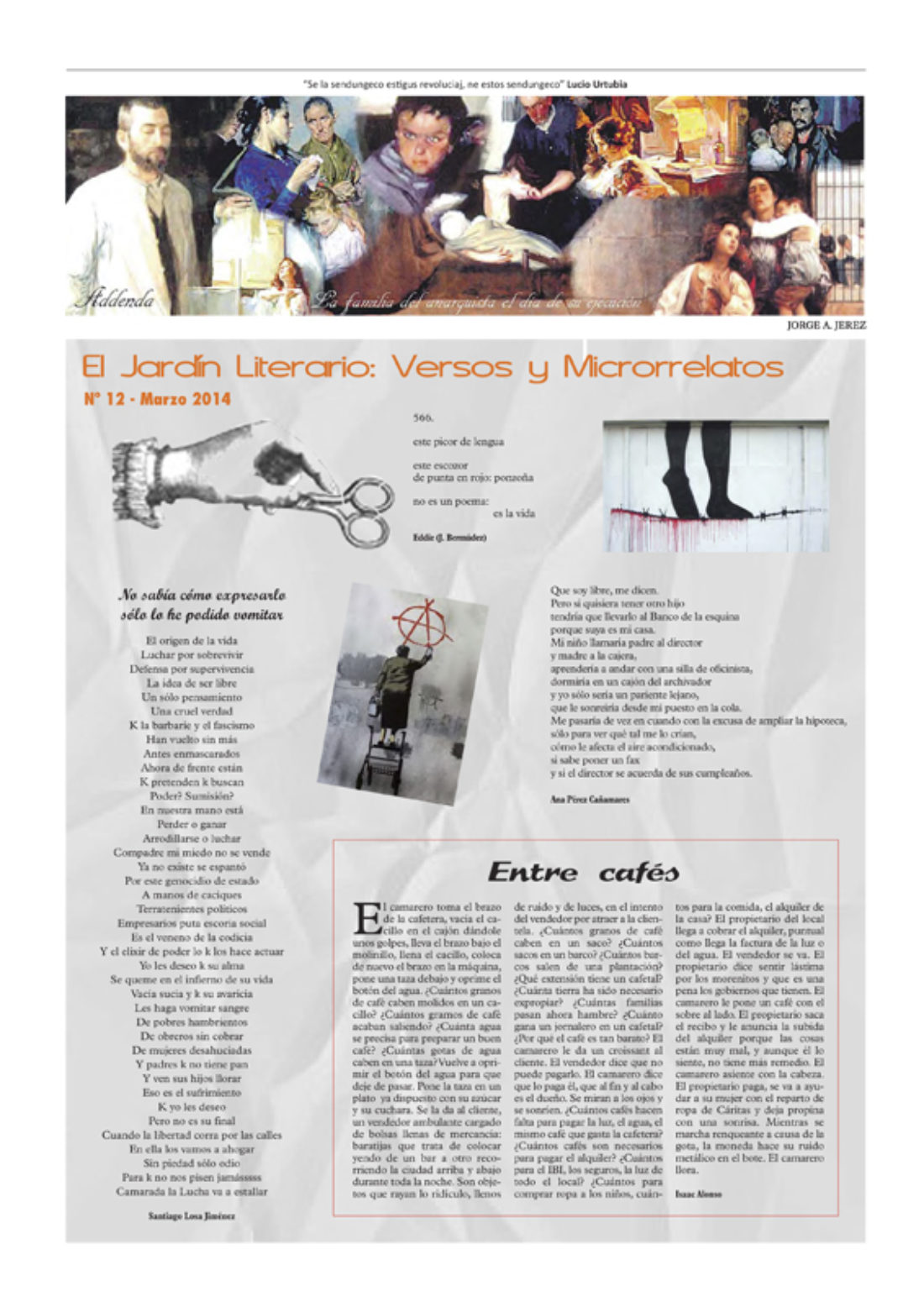 Addenda, suplemento cultural del RyN – Nº 12, marzo 2014