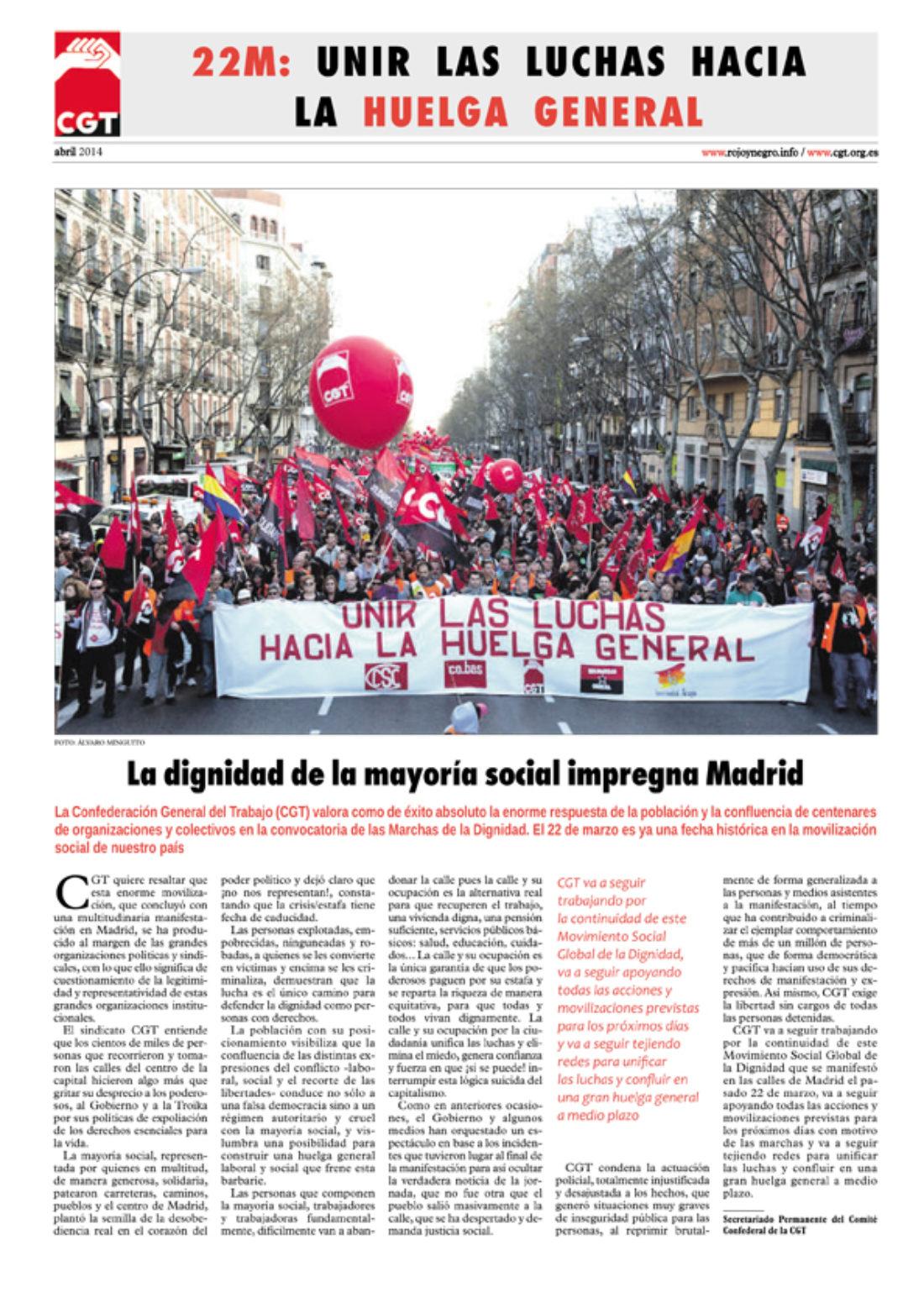 22M: Unir las luchas hacia la Huelga General