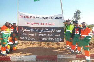 Solidaridad internacional con los trabajadores argelinos de Lafarge. Concentración en París