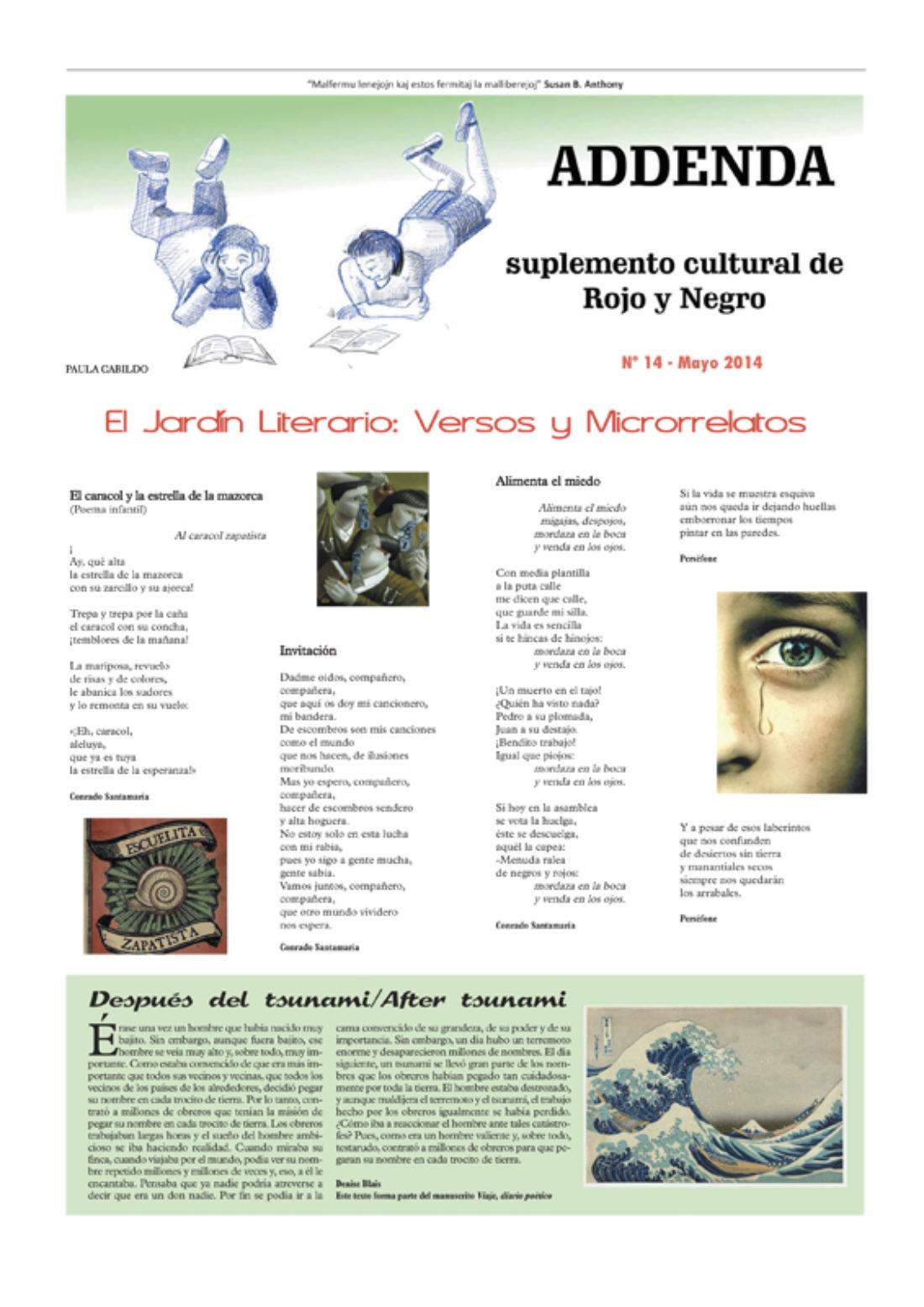 Addenda, suplemento cultural del RyN – Nº 14, mayo 2014
