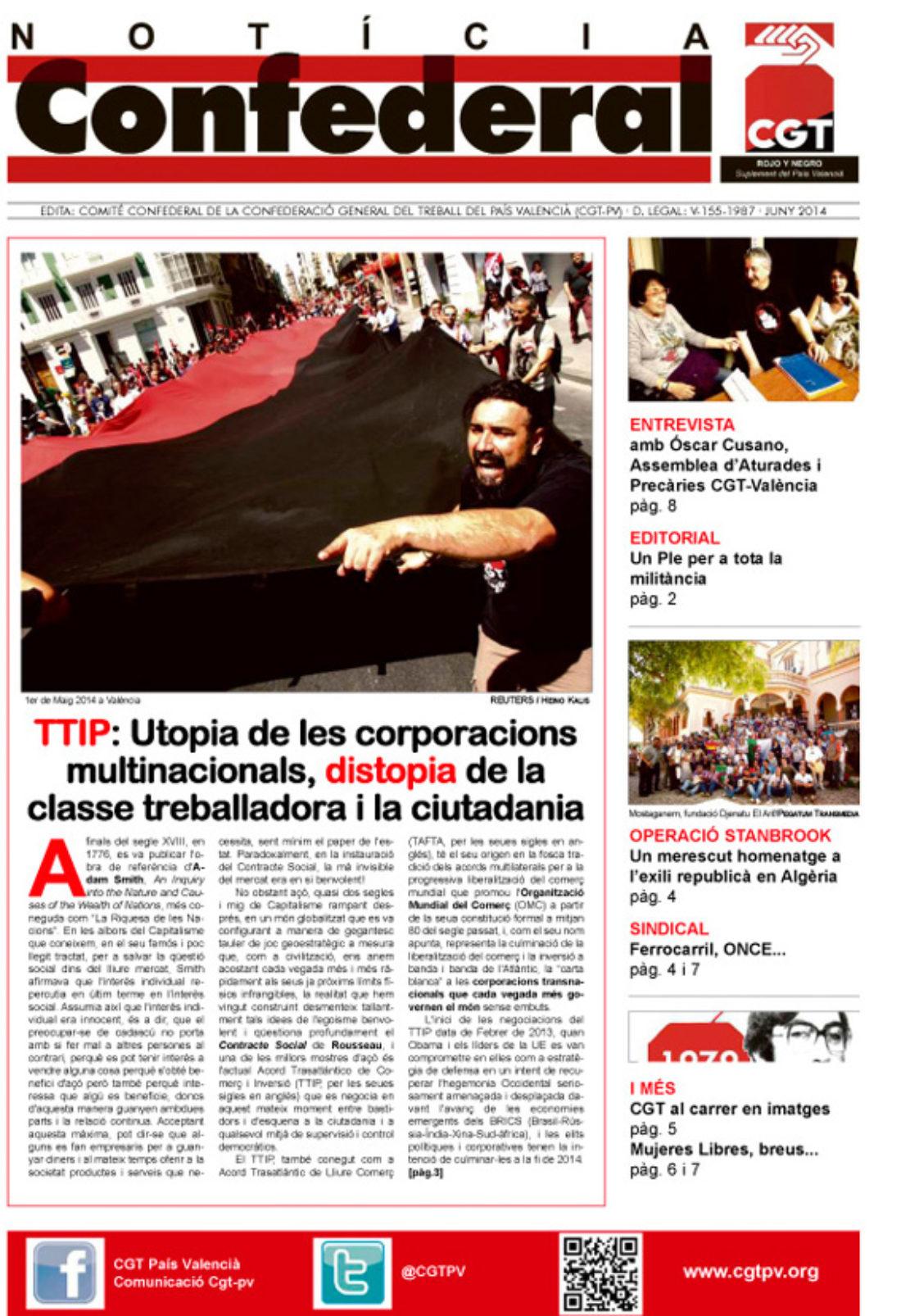 Notícia Confederal – junio 2014