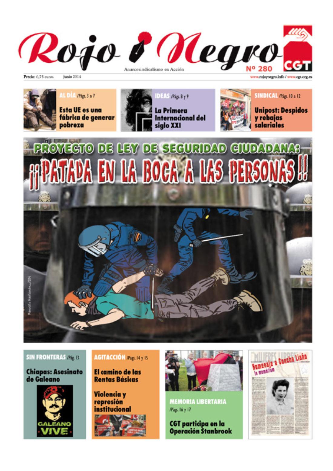 Rojo y Negro Nº 280 – junio 2014