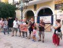 Concentracion en Almuñécar contra masacre del estado de Israel al pueblo palestino