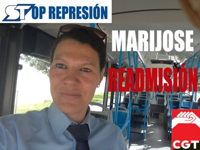 Campaña de solidaridad con la compañera de CGT despedida en autobuses urbanos de Salamanca