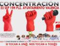 22-S: Concentración en Valencia en solidaridad internacional con las 595 trabajadoras de limpieza en Grecia