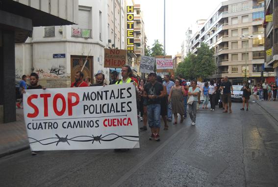 [Fotos] Stop montajes policiales Cuatro Caminos Cuenca