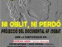 31-O: Proyección de «Ciutat morta, ni oblit ni perdó» en Barcelona»