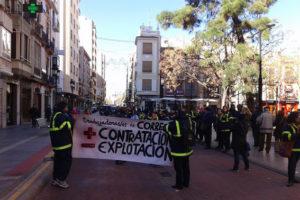 Segundo día de movilización y de huelga indefinida en Correos de Castelló