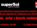 9-M: Concentración por la readmisión de Estrella, Javier y Ricardo en Supersol