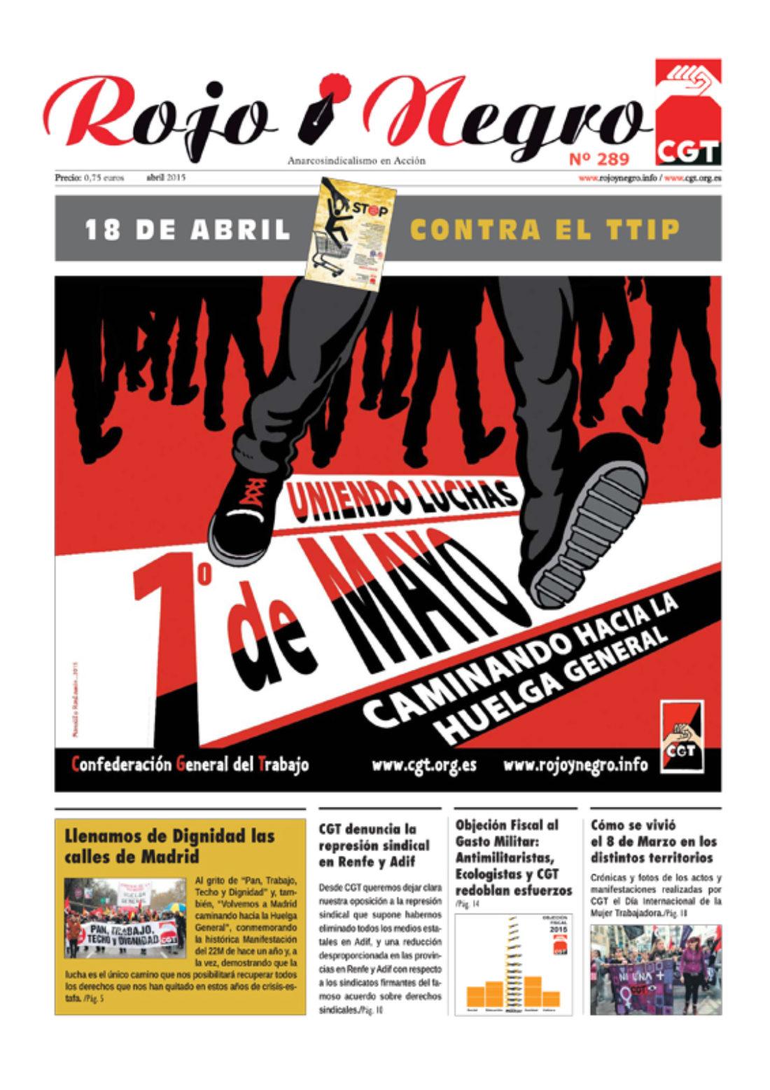 Rojo y Negro Nº 289 – abril 2015