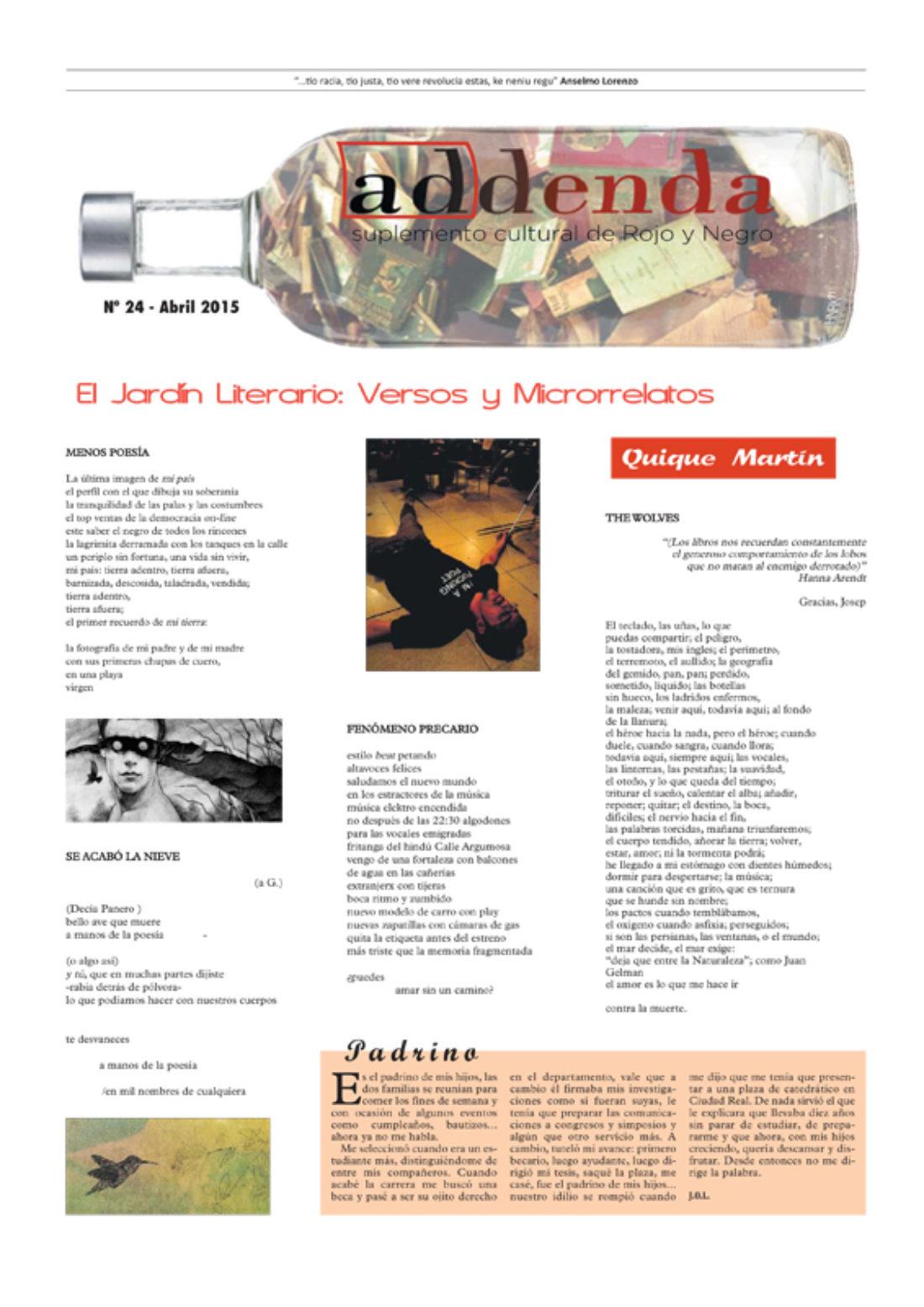 Addenda, suplemento cultural del RyN – Nº 24, abril 2015