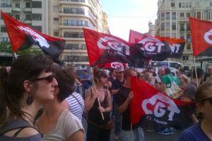 Protesta en Valencia contra el paro y la precariedad