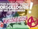 27-J: CGT participa en la manifestación del orgullo LGTB en Valencia