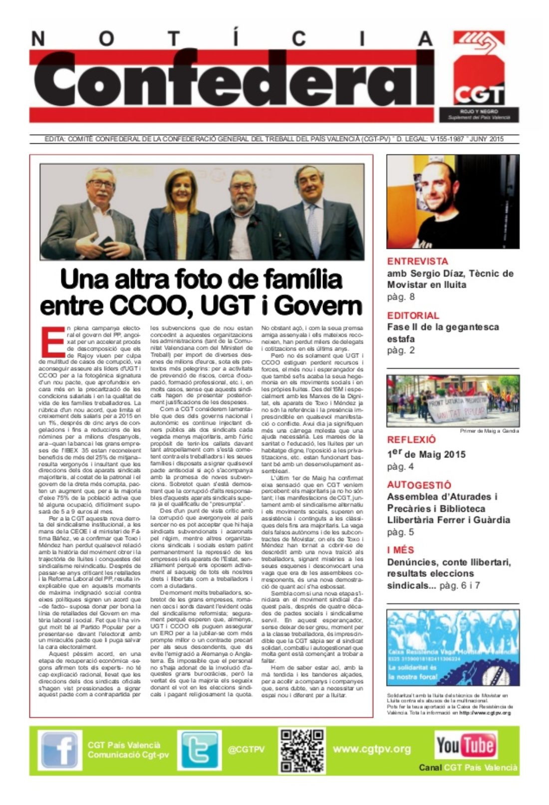 Notícia Confederal – Junio 2015