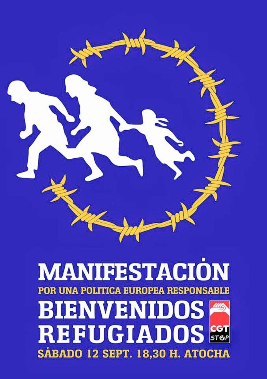 12-S: Manifestación Bienvenidos Refugiados
