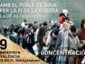 9-s Valencia: Concentración solidaria con el pueblo de Siria
