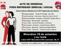 Acto de denuncia: Basta de represión sindical y social