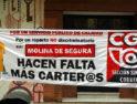La CGT de Murcia continúa con la campaña por el mal servicio de Correos en Molina de Segura