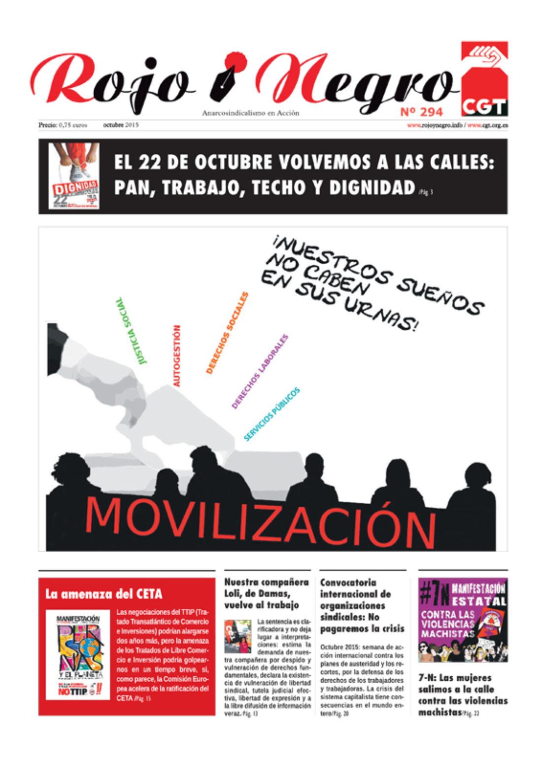 Rojo y Negro Nº 294, octubre 2015
