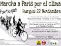 22-N: La «Marcha a París por el clima» llega a Burgos